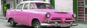 Cuba Fuerte Collection Panoramic - Classic Pink Car by Philippe Hugonnard