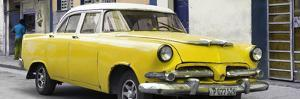 Cuba Fuerte Collection Panoramic - Classic Yellow Car by Philippe Hugonnard