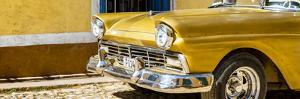 Cuba Fuerte Collection Panoramic - Close-up of Classic Golden Car by Philippe Hugonnard