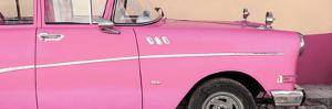 Cuba Fuerte Collection Panoramic - Close-up of Retro Pink Car by Philippe Hugonnard