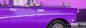 Cuba Fuerte Collection Panoramic - Close-up of Retro Purple Car by Philippe Hugonnard