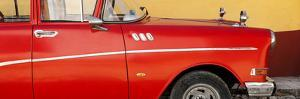 Cuba Fuerte Collection Panoramic - Close-up of Retro Red Car by Philippe Hugonnard