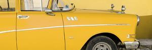 Cuba Fuerte Collection Panoramic - Close-up of Retro Yellow Car by Philippe Hugonnard