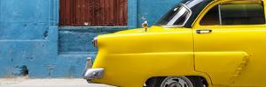 Cuba Fuerte Collection Panoramic - Close-up of Yellow Taxi of Havana II by Philippe Hugonnard