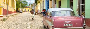 Cuba Fuerte Collection Panoramic - Colorful Street Scene in Trinidad by Philippe Hugonnard