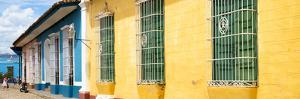 Cuba Fuerte Collection Panoramic - Colorful Street Scene by Philippe Hugonnard