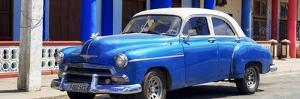 Cuba Fuerte Collection Panoramic - Cuban Blue Car by Philippe Hugonnard