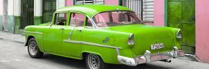 Cuba Fuerte Collection Panoramic - Cuban Green Classic Car in Havana by Philippe Hugonnard
