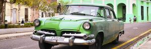 Cuba Fuerte Collection Panoramic - Cuban Retro Car at Sunset by Philippe Hugonnard