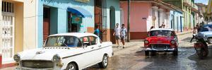 Cuba Fuerte Collection Panoramic - Cuban Street Scene by Philippe Hugonnard