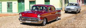 Cuba Fuerte Collection Panoramic - Cuban Taxis by Philippe Hugonnard