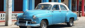 Cuba Fuerte Collection Panoramic - Cuban Turquoise Car by Philippe Hugonnard