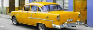Cuba Fuerte Collection Panoramic - Cuban Yellow Classic Car in Havana by Philippe Hugonnard