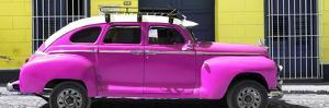 Cuba Fuerte Collection Panoramic - Deep Pink Vintage Car by Philippe Hugonnard