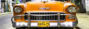 Cuba Fuerte Collection Panoramic - Detail on Orange Classic Chevrolet by Philippe Hugonnard