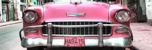 Cuba Fuerte Collection Panoramic - Detail on Pink Classic Chevrolet by Philippe Hugonnard