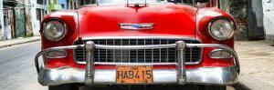Cuba Fuerte Collection Panoramic - Detail on Red Classic Chevrolet by Philippe Hugonnard