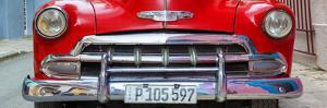 Cuba Fuerte Collection Panoramic - Detail on Red Classic Chevy by Philippe Hugonnard