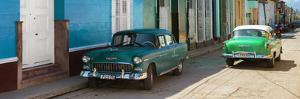 Cuba Fuerte Collection Panoramic - Green Cars in Trinidad by Philippe Hugonnard