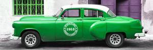 Cuba Fuerte Collection Panoramic - Green Pontiac 1953 Original Classic Car by Philippe Hugonnard