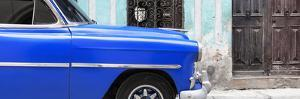 Cuba Fuerte Collection Panoramic - Havana Blue Car by Philippe Hugonnard