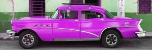 Cuba Fuerte Collection Panoramic - Havana Classic American Deep Pink Car by Philippe Hugonnard