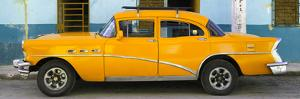 Cuba Fuerte Collection Panoramic - Havana Classic American Orange Car by Philippe Hugonnard