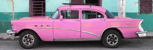 Cuba Fuerte Collection Panoramic - Havana Classic American Pink Car by Philippe Hugonnard