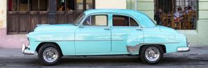 Cuba Fuerte Collection Panoramic - Havana Club and Blue Classic Car by Philippe Hugonnard