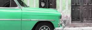 Cuba Fuerte Collection Panoramic - Havana Green Car by Philippe Hugonnard