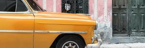 Cuba Fuerte Collection Panoramic - Havana Orange Car by Philippe Hugonnard