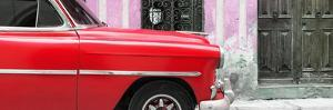 Cuba Fuerte Collection Panoramic - Havana Red Car by Philippe Hugonnard
