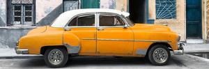 Cuba Fuerte Collection Panoramic - Havana's Orange Vintage Car by Philippe Hugonnard