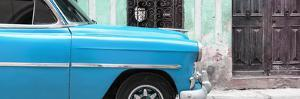 Cuba Fuerte Collection Panoramic - Havana Turquoise Car by Philippe Hugonnard