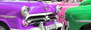 Cuba Fuerte Collection Panoramic - Havana Vintage Classic Cars II by Philippe Hugonnard