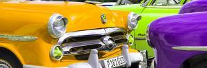 Cuba Fuerte Collection Panoramic - Havana Vintage Classic Cars III by Philippe Hugonnard