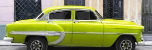 Cuba Fuerte Collection Panoramic - Lime Green Bel Air Classic Car by Philippe Hugonnard