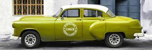 Cuba Fuerte Collection Panoramic - Lime Green Pontiac 1953 Original Classic Car by Philippe Hugonnard