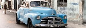 Cuba Fuerte Collection Panoramic - Old Blue Chevrolet in Havana by Philippe Hugonnard