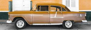 Cuba Fuerte Collection Panoramic - Old Orange Car by Philippe Hugonnard
