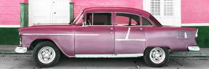 Cuba Fuerte Collection Panoramic - Old Pink Car by Philippe Hugonnard