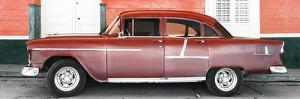 Cuba Fuerte Collection Panoramic - Old Red Car by Philippe Hugonnard