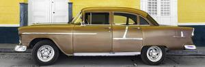 Cuba Fuerte Collection Panoramic - Old Yellow Car by Philippe Hugonnard