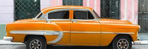 Cuba Fuerte Collection Panoramic - Orange Bel Air Classic Car by Philippe Hugonnard