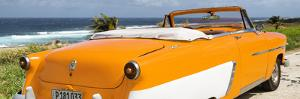 Cuba Fuerte Collection Panoramic - Orange Cabriolet Classic Car by Philippe Hugonnard