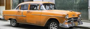 Cuba Fuerte Collection Panoramic - Orange Chevy by Philippe Hugonnard