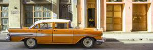 Cuba Fuerte Collection Panoramic - Orange Classic Chevy by Philippe Hugonnard