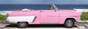 Cuba Fuerte Collection Panoramic - Pink Cabriolet Car by Philippe Hugonnard