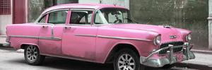 Cuba Fuerte Collection Panoramic - Pink Chevy by Philippe Hugonnard