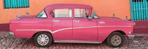 Cuba Fuerte Collection Panoramic - Pink Classic Car in Trinidad by Philippe Hugonnard